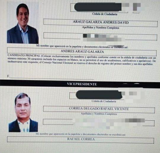 Andres-Arauz-Rafael-Correa-UNES-CNE-23-09-2020
