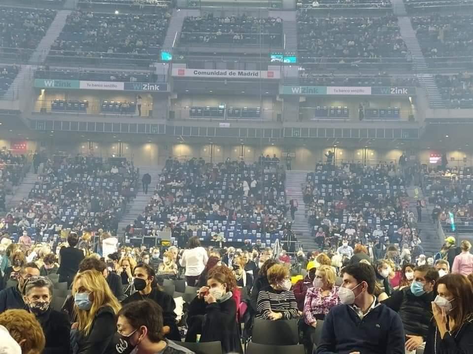 Estas fotos del concierto fueron compartidas en Twitter por los internautas.