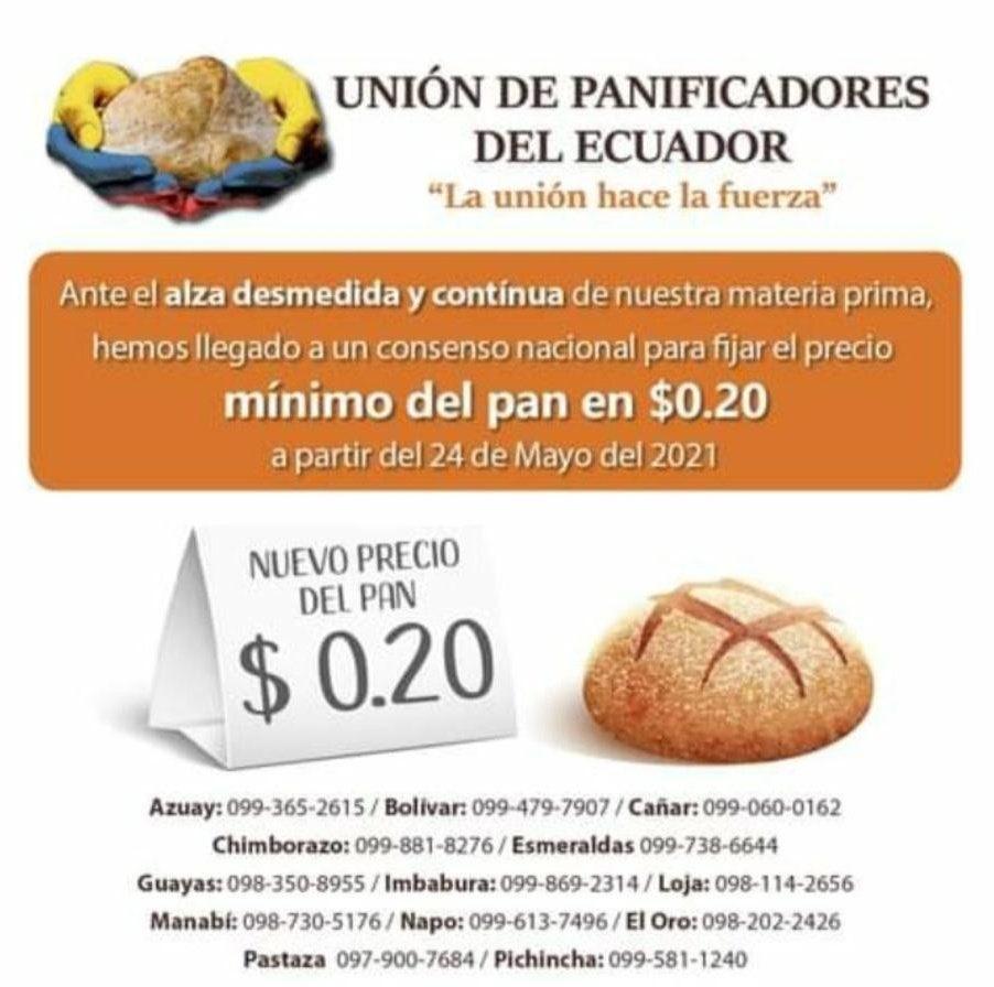 Comunicado de la Unión de Panificadores del Ecuador
